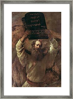 Moses Smashing The Tablets Of The Law Framed Print
