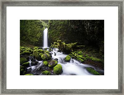 Framed Print featuring the photograph Mossy Grotto by Brian Bonham