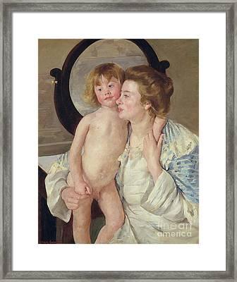 Mother And Boy Framed Print by Mary Stevenson Cassatt
