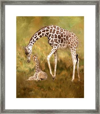 Mother And Child Framed Print by Jack Zulli