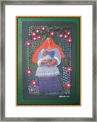 Mother And Child Love Framed Print
