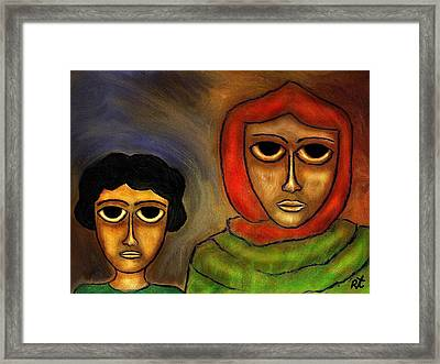 Mother And Child Framed Print by Rafi Talby