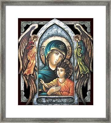 Mother Of God Framed Print by Iosif Ioan Chezan