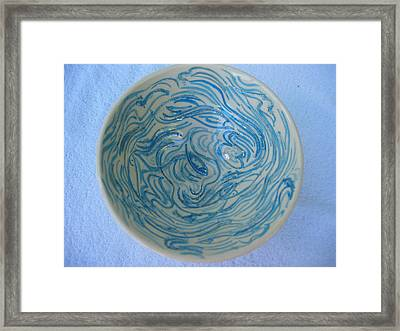 Mother-of-pearl Bowl Framed Print by Julia Van Dine
