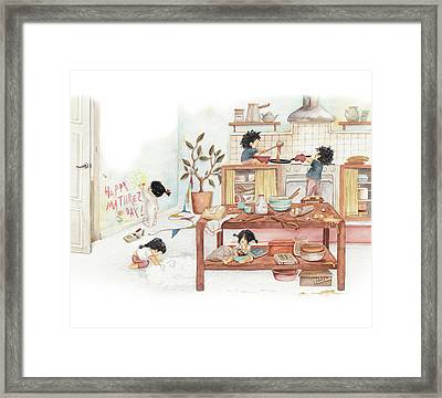 Mother's Day Surprise Framed Print
