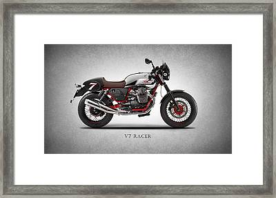 Moto Guzzi V7 Racer Framed Print by Mark Rogan