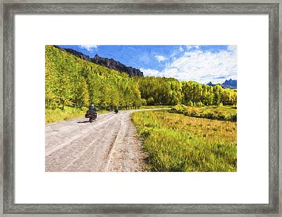 Motor Thru Colorado II Framed Print