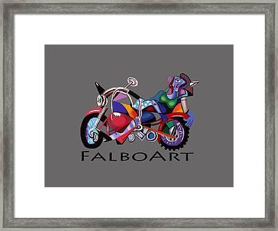 Motorcycle Mama Framed Print