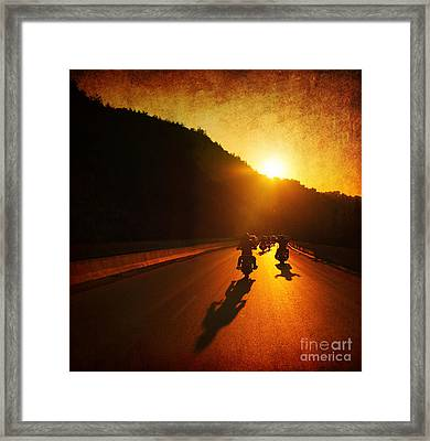 Motorcycle Ride Framed Print