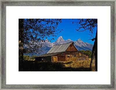 Framed Print featuring the photograph Moulton Barn by Norman Hall