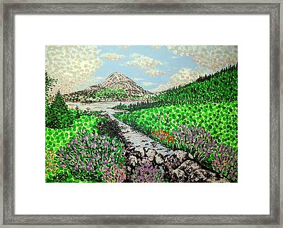 Mount Errigal Framed Print by Alan Hogan