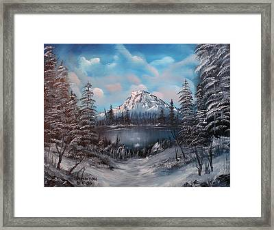 Mount Hood Oregon Framed Print by Larry Hamilton
