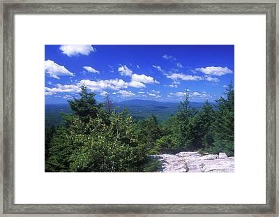 Mount Monadnock From Pack Monadnock Framed Print