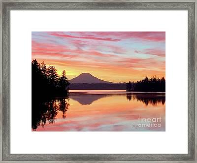 Mount Rainier Dawn Framed Print