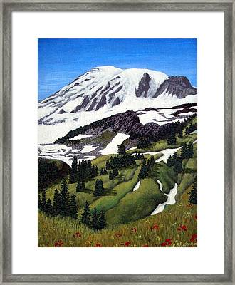 Mount Rainier Framed Print by Frederic Kohli