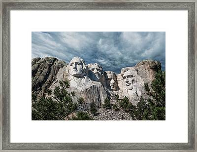 Mount Rushmore II Framed Print by Tom Mc Nemar