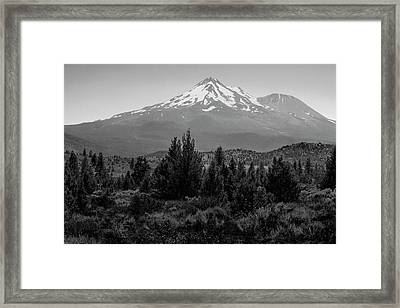 Framed Print featuring the photograph Mount Shasta And Shastina by Frank Wilson