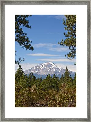 Framed Print featuring the photograph Mount Shasta by Daniel Hebard