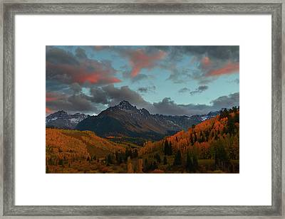 Framed Print featuring the photograph Mount Sneffels Sunset During Autumn In Colorado by Jetson Nguyen