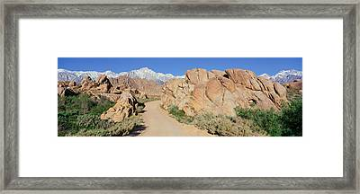 Mount Whitney, Lone Pine, California Framed Print by Panoramic Images