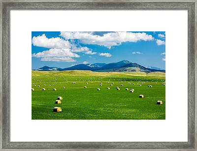 Mountain Fields Framed Print by Todd Klassy
