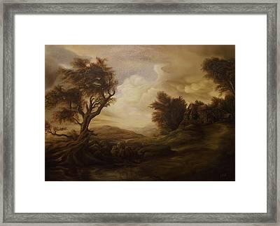 Mountain Landscape Framed Print by Dan Scurtu