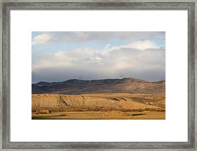 Framed Print featuring the photograph Mountain Meadow And Hay Bales In Grand County by Carol M Highsmith