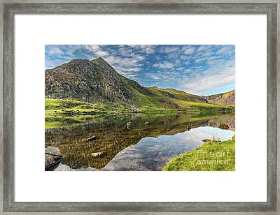 Mountain Reflections Framed Print by Adrian Evans