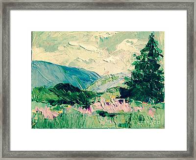 Mountain Spring Framed Print