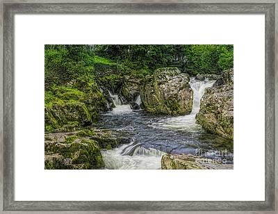 Mountain Waterfall Framed Print