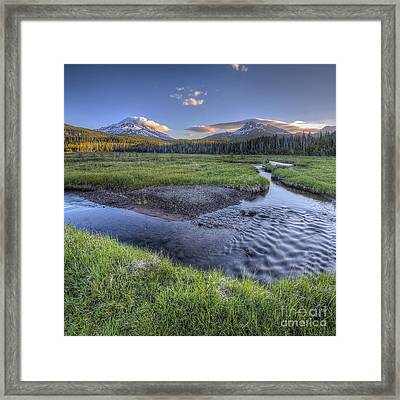 Mountains From Soda Creek Framed Print by Twenty Two North Photography