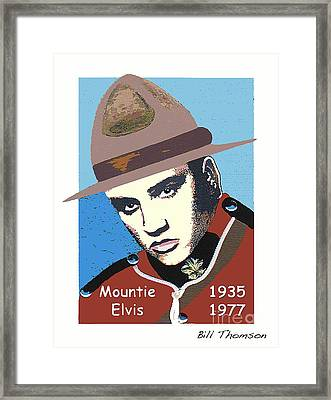 Mountie Elvis Framed Print by Bill Thomson