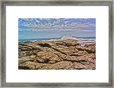 Mouth Of Margaret River Beach II Framed Print by Cassandra Buckley