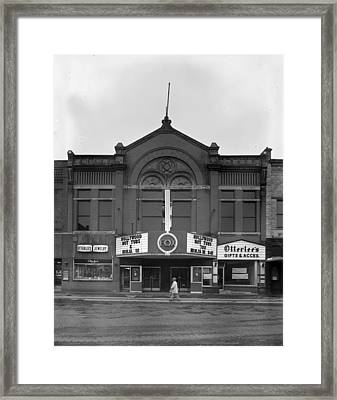 Movie Theaters, The G.f. Andrae Opera Framed Print