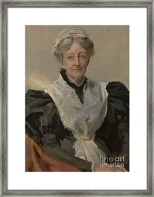 Mrs Frederick Mead Framed Print by John Singer Sargent