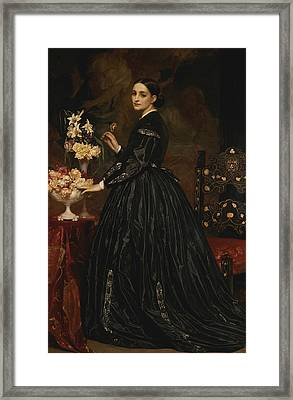 Mrs. James Guthrie Framed Print by Frederic Leighton