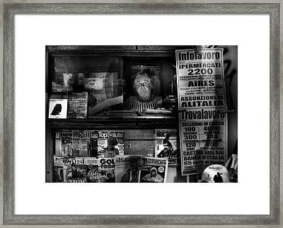 Mrs. Maria Framed Print by Antonio Grambone