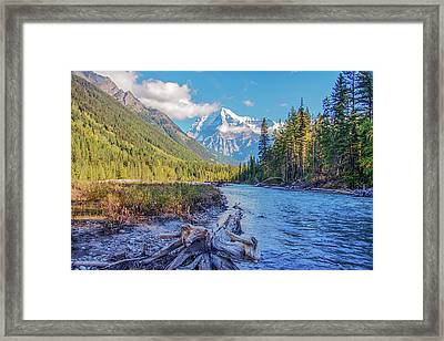 Framed Print featuring the photograph Mt. Robson 2009 02 by Jim Dollar