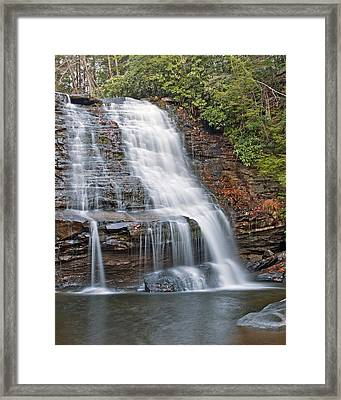 Muddy Creek Falls In Swallow Falls State Park Maryland Framed Print by Brendan Reals