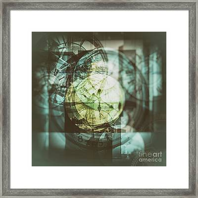 Framed Print featuring the photograph Multi Exposure Clock   by Ariadna De Raadt