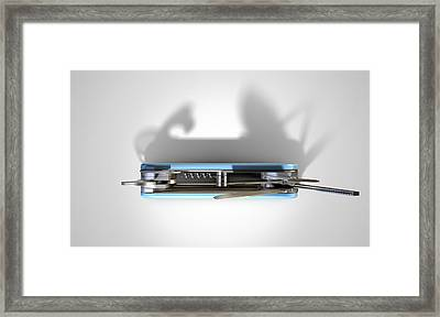 Multipurpose Penknife Framed Print