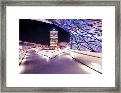 Munich - Bmw Modern And Futuristic Framed Print
