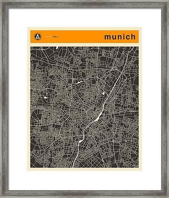 Munich Map Framed Print