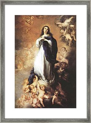 Murillo Immaculate Conception  Framed Print by Bartolome Esteban Murillo