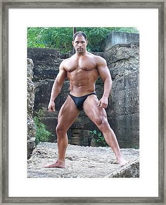Muscleart Marius Poser Classic Framed Print
