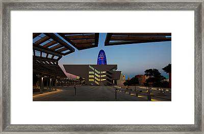 Museum In A City, Disseny Hub Framed Print by Panoramic Images