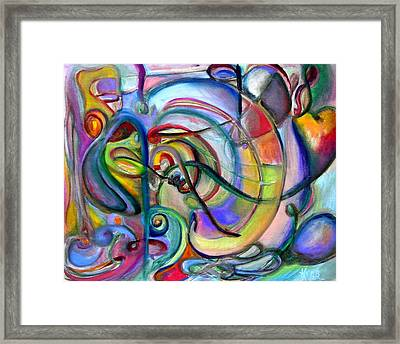 Music Abstract Framed Print by Kathy Dueker