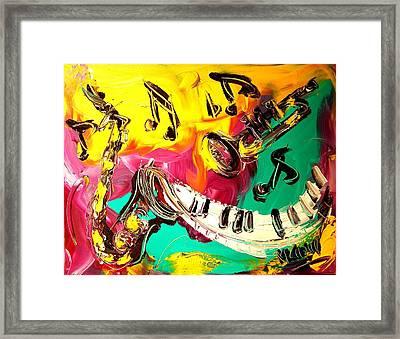 Music Jazz Framed Print by Mark Kazav