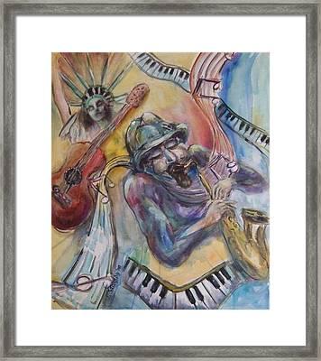 Music Man Framed Print by Lee Anne Stieglitz