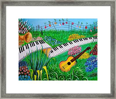 Musical Garden Framed Print